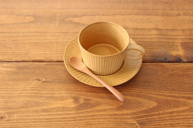 4th-market プラート ティーカップ&ソーサー カーキオリーブ 陶器 画像4
