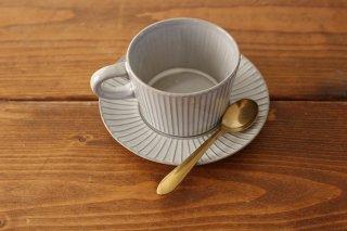 4th-market プラート ティーカップ&ソーサー グレー 陶器商品画像