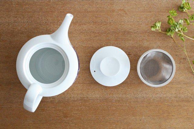 白山陶器 ブルーム リース ティーポット 磁器 波佐見焼 画像2