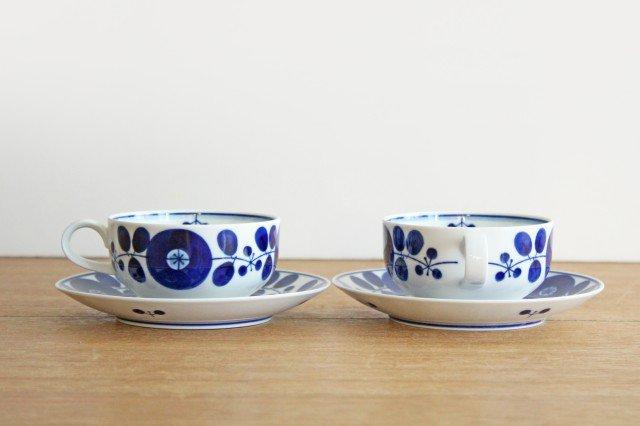 白山陶器 ブルームリース  ティーカップ&ソーサー 磁器 波佐見焼 画像4