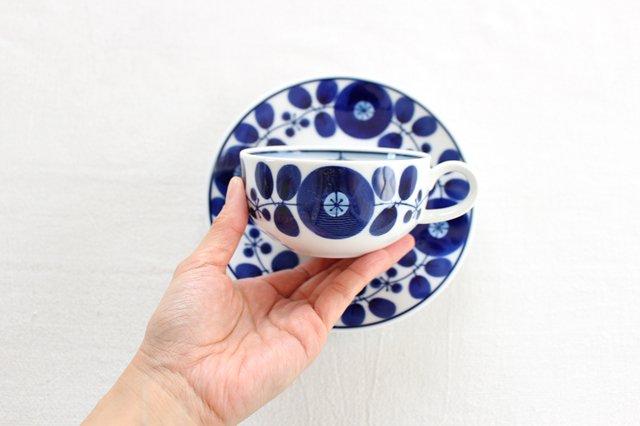 白山陶器 ブルームリース  ティーカップ&ソーサー 磁器 波佐見焼 画像5