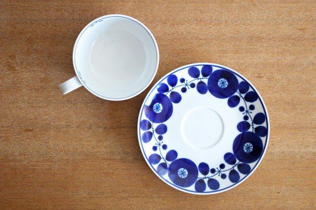 白山陶器 ブルームリース  ティーカップ&ソーサー 磁器 波佐見焼 画像6