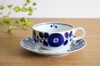 白山陶器 ブルームリース  ティーカップ&ソーサー 磁器 波佐見焼商品画像
