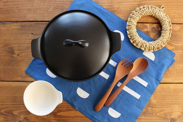 《耐熱陶器》アクアコッタ キャセロール8号 黒 4th-market