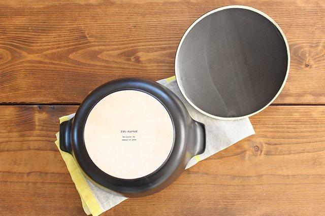 《耐熱陶器》アクアコッタ キャセロール8号 黒 4th-market 画像4