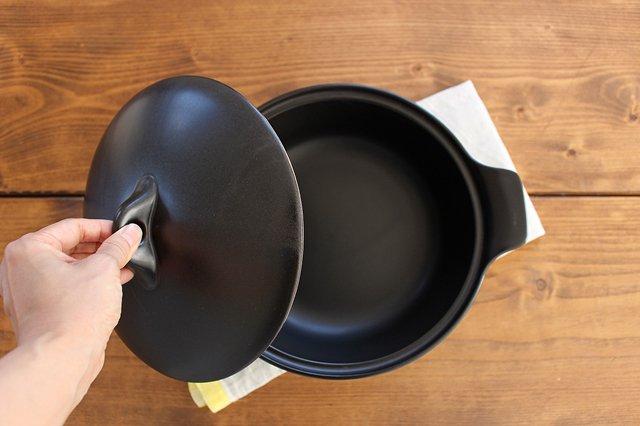 《耐熱陶器》アクアコッタ キャセロール8号 黒 4th-market 画像5