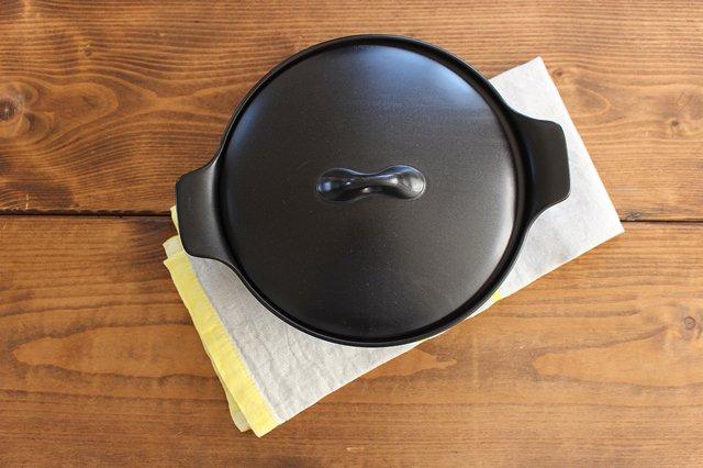 《耐熱陶器》アクアコッタ キャセロール8号 黒 4th-market 画像6