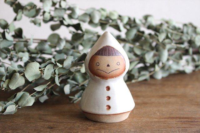 オブジェ 人形 レインコートさん 陶器 キエリ舎