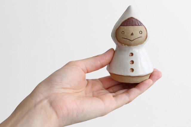 オブジェ 人形 レインコートさん 陶器 キエリ舎 画像2