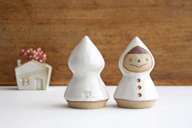 オブジェ 人形 レインコートさん 陶器 キエリ舎 画像4