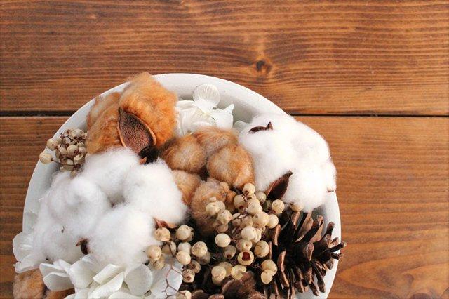 【うちるオリジナル】冬アレンジメント プリザーブド&ドライフラワー ichirin花 画像3