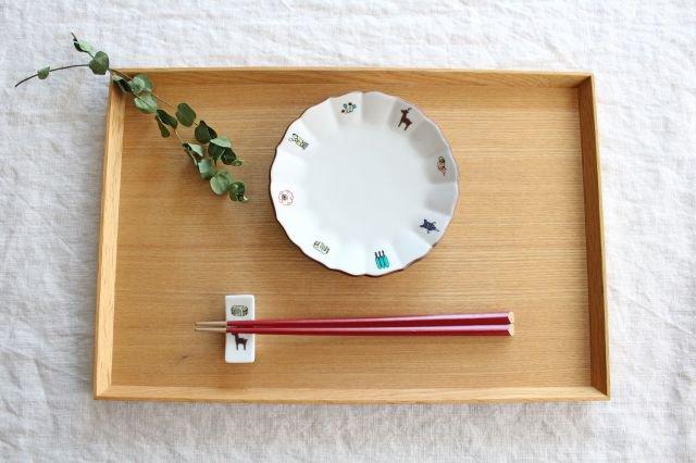 KUTANI SEAL 箸置き 鹿と煎餅 磁器 中川政七商店 画像2