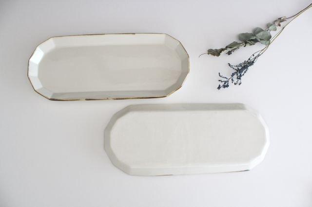 サンマ皿 ホワイト 半磁器 アトリエキウト 小出麻紀子 画像3