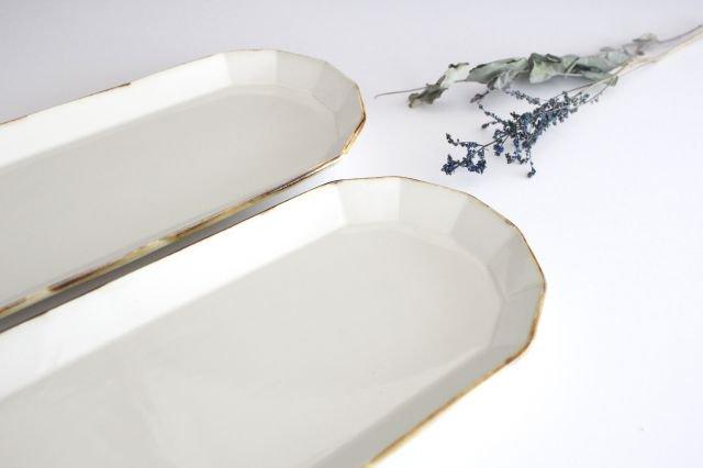 サンマ皿 ホワイト 半磁器 アトリエキウト 小出麻紀子 画像4