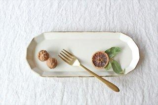 サンマ皿 ホワイト 半磁器 アトリエキウト 小出麻紀子商品画像
