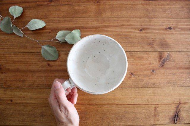 粉引削りスープカップ 陶器 美濃焼 画像2