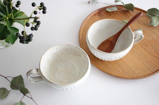 粉引削りスープカップ 陶器 美濃焼 画像4