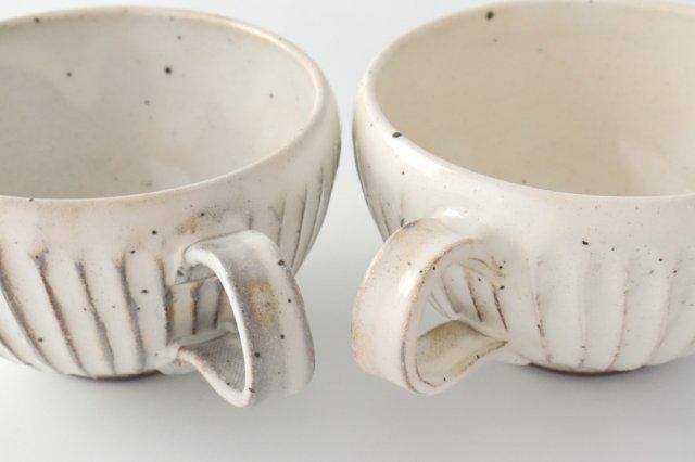 粉引削りスープカップ 陶器 美濃焼 画像6