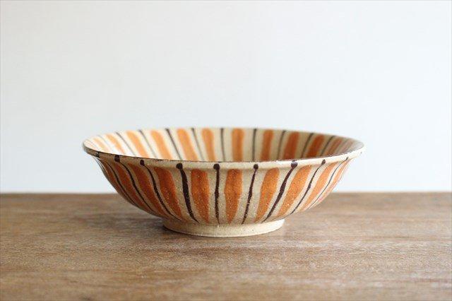 美濃焼 中平鉢 麦藁手(橙)【B】 陶器 画像2