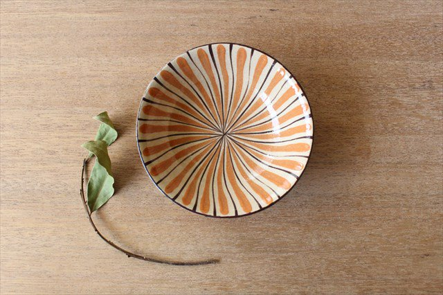 美濃焼 中平鉢 麦藁手(橙)【B】 陶器 画像3