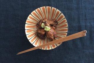 美濃焼 中平鉢 麦藁手(橙)【B】 陶器商品画像