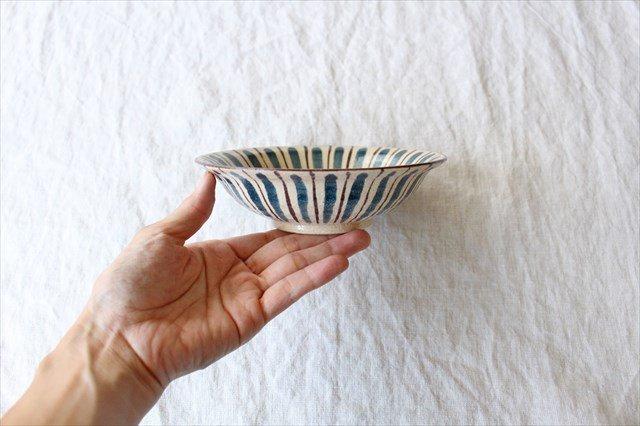 美濃焼 中平鉢 麦藁手(青)【A】 陶器 画像2