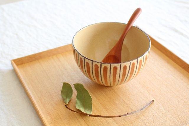 美濃焼 丼 麦藁手 (橙) 陶器