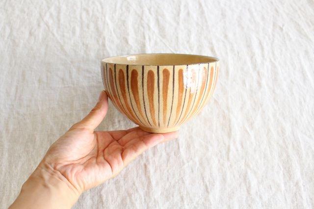 丼 麦藁手 橙 陶器 美濃焼  画像3