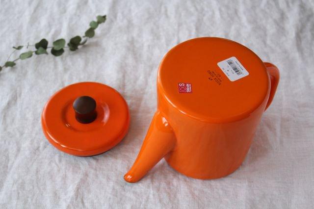 ホーロー ポトル 柿 (オレンジ) 野田琺瑯 画像5