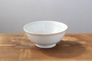 白磁杓掛け ゆり型茶碗 磁器 (長崎波佐見焼)馬場商店商品画像