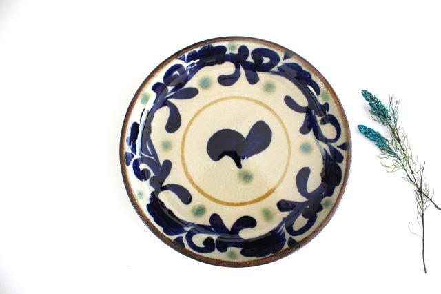 7寸皿 唐草 陶器 エドメ陶房