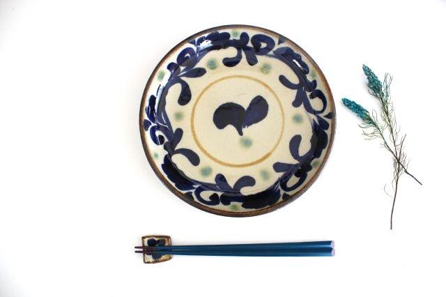 7寸皿 唐草 陶器 エドメ陶房 画像3