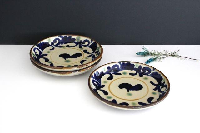 7寸皿 唐草 陶器 エドメ陶房 画像6