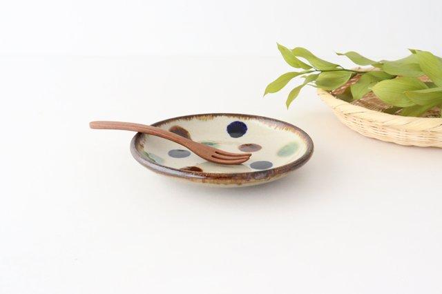 5寸皿 水玉 陶器 エドメ陶房 画像3