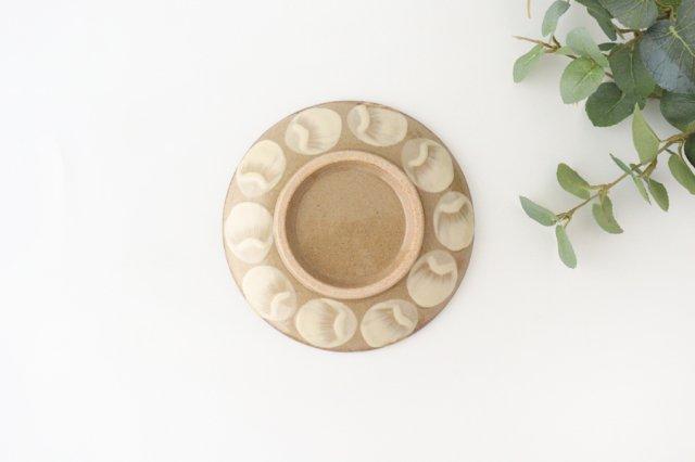 5寸皿 水玉 陶器 エドメ陶房 画像4