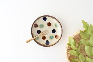 5寸皿 水玉 陶器 エドメ陶房商品画像