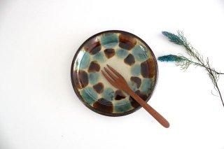 5寸皿 三彩 陶器 エドメ陶房商品画像