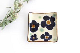 デザートプレート 花紋 【A】 陶器 エドメ陶房 やちむん商品画像