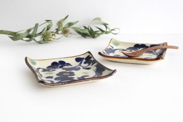 デザートプレート 唐草紋 陶器 エドメ陶房 やちむん 画像2
