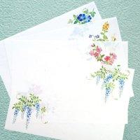 「花だより」ランチョンマット 印刷できる A4雲流和紙 春夏柄