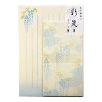 美濃和紙 レターセット 「彩麗」 藤