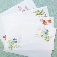「花だより」ランチョンマット 印刷できる A4雲流和紙 秋冬柄