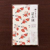 可愛らしい 「花小紋」 ぽち袋 花つばき