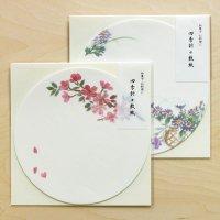 お菓子・料理の 丸い敷紙 桜と秋草