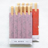 国産 桧の割箸「花小紋」の箸袋セット 梅・桜
