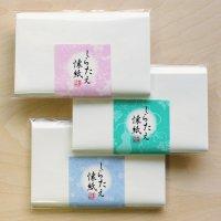 白い模様の懐紙 しらたえ 桜・ひょうたん・つぼつぼ