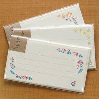お花の刺繍のような「Washu」一筆お手紙セット