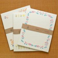 お花の刺繍のような「Washu」お手紙セット