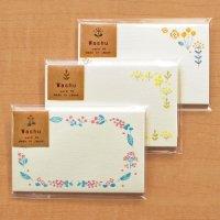 お花の刺繍のような 小さな カード 「Washu」