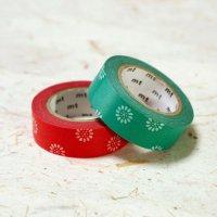 mt 和柄 マスキングテープ 可愛い小菊の 夏草・紅菊